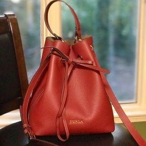 Furla Red Bucket Costanza Tote Leather